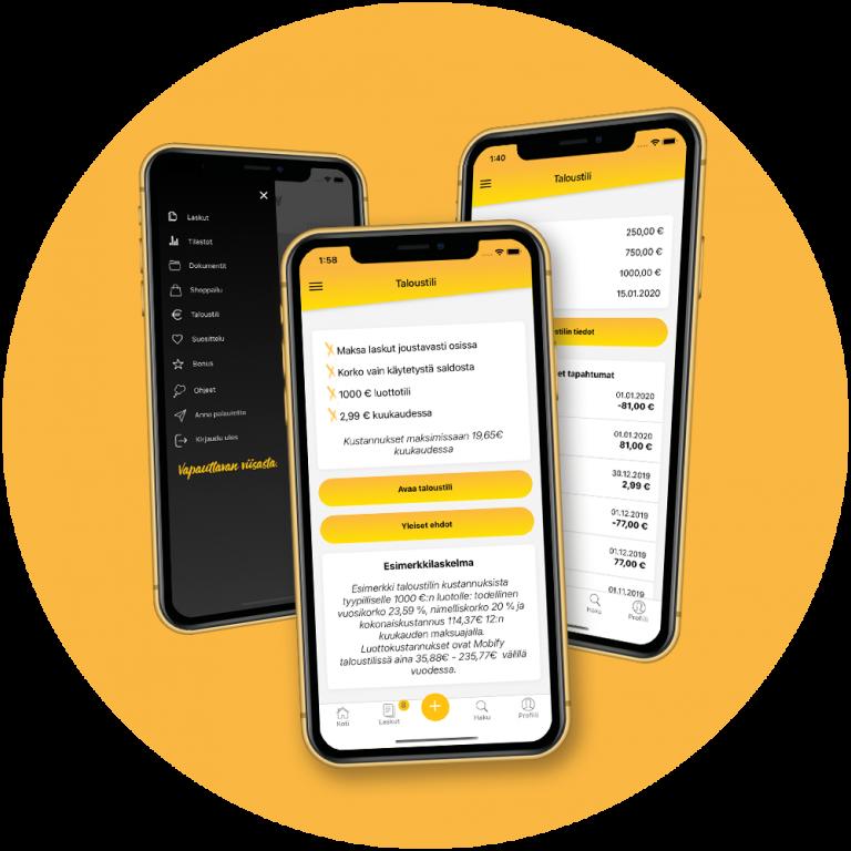 Mobify laskujen maksu sovellus